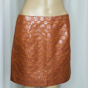 J Crew Collection silk jacquard pencil skirt 4